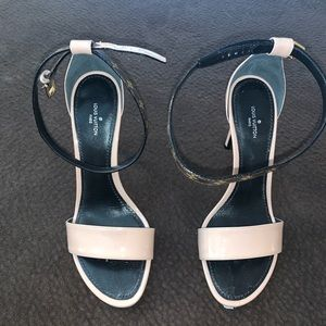 Louis Vuitton - ankle nude heeled sandals